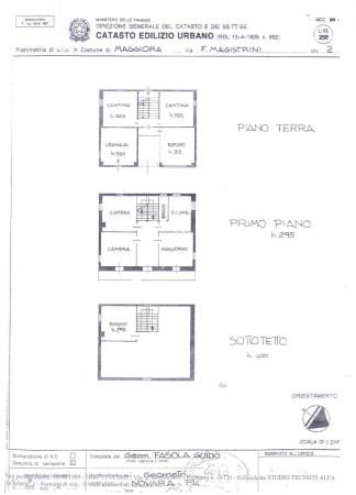 foto planimetrie Casa indipendente via Franco Mario Magistrani 2, Maggiora