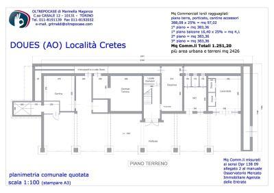 planimetria Palazzo / Stabile Vendita Doues