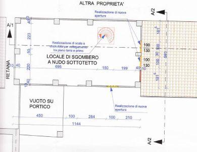 planimetria Rustico / Casale Vendita Alfiano Natta