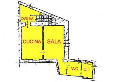 planimetria Rustico / Casale Vendita Barone Canavese