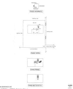 planimetria Rustico / Casale Vendita Castelli Calepio