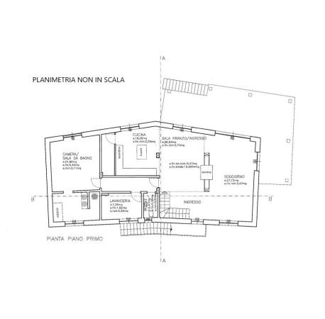 foto Planimetria Rustico / Casale Località Monaca, Castellino Tanaro