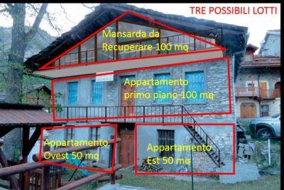 planimetria Rustico / Casale Vendita Cesana Torinese