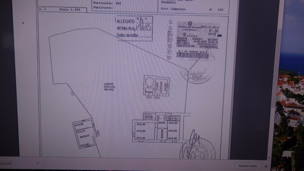 foto planimetria catastale Rustico / Casale via San Remo 8, Rosora