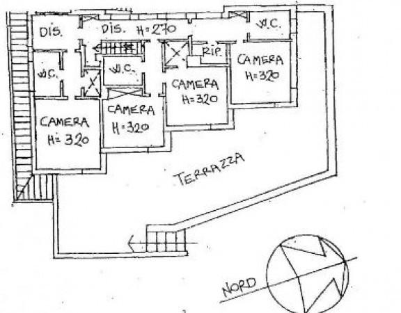foto planimetria p.1 Villa, ottimo stato, 250 mq, Bologna