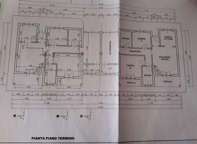 planimetria Villa Vendita Agliè