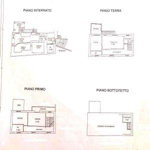 planimetria Villa Vendita Castellaro