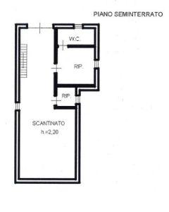 planimetria Villa Vendita Goito