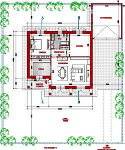 planimetria Villa Vendita Magnago