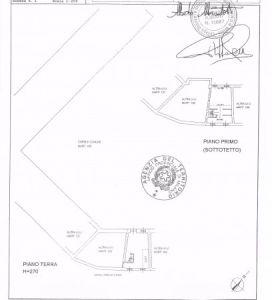planimetria Villa Vendita Marcallo con Casone