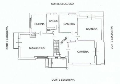 planimetria Villa Vendita Monteu da Po