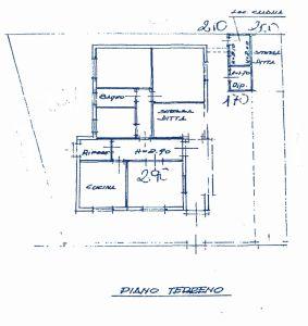 planimetria Villa Vendita Pescia