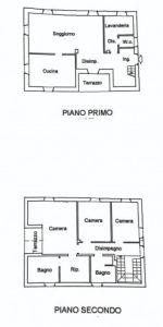 planimetria Villa Vendita Porlezza