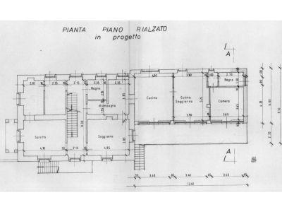planimetria Villa Vendita Rubiana