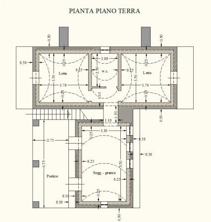 foto Pianta Villa Strada Vicinale Terramascia, Salve