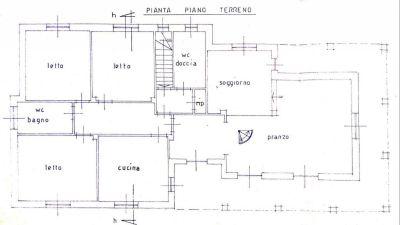 planimetria Villa Vendita Santena