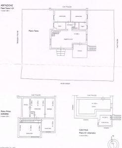planimetria Villa Vendita Tolfa