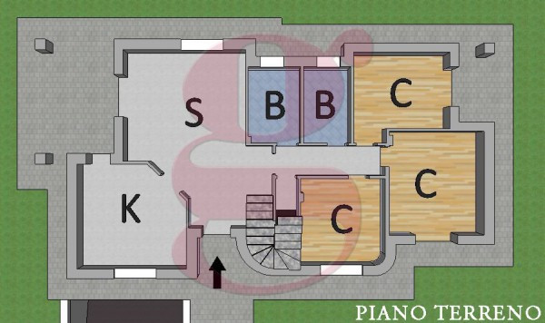 foto planimetria Villa, nuova, 300 mq, Torrazza Piemonte