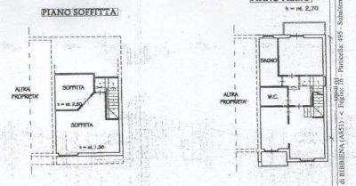 planimetria Villetta a schiera Vendita Bibbiena