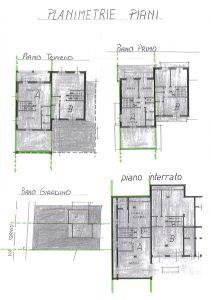 planimetria Villetta a schiera Vendita Bruino
