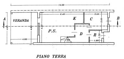 planimetria Villetta a schiera Vendita Castiadas