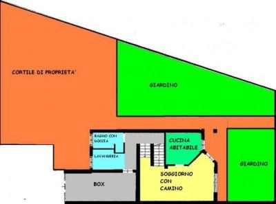 planimetria Villetta a schiera Vendita Castiglione d'Adda