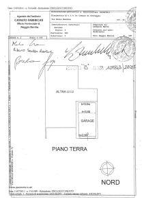planimetria Villetta a schiera Vendita Correggio