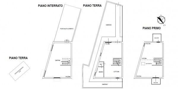 foto planimetria Villetta a schiera via di Levante, Livorno