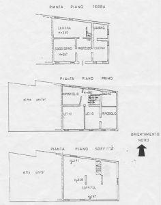planimetria Villetta a schiera Vendita Luzzara