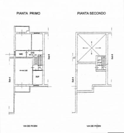 foto primo e secondo piano Villetta a schiera via dei Piceni, Matera
