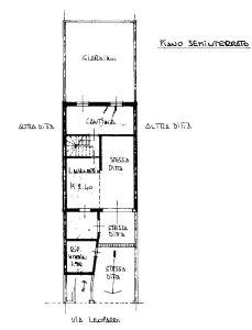 planimetria Villetta a schiera Vendita Mediglia