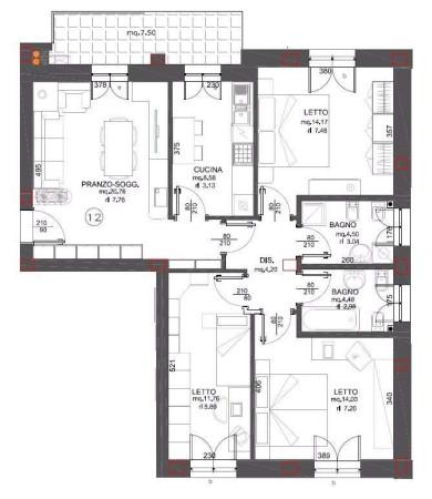 Vendita villetta a schiera in via montegiacomo 2 monsano for Piani di un appartamento con una camera da letto