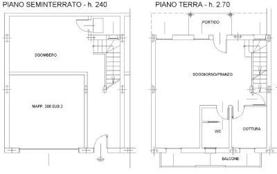 planimetria Villetta a schiera Vendita Motteggiana