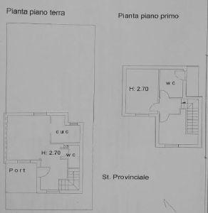 planimetria Villetta a schiera Vendita Nerola