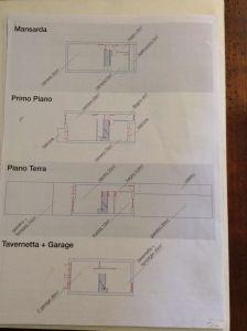 planimetria Villetta a schiera Vendita Pinasca