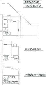 planimetria Villetta a schiera Vendita San Cesareo