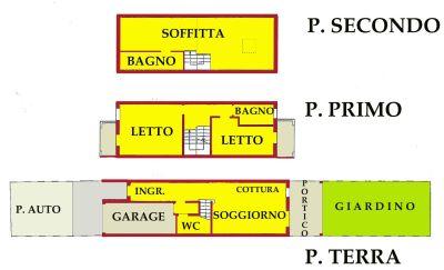planimetria Villetta a schiera Vendita San Giorgio di Mantova