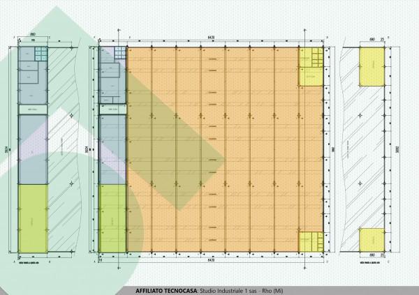 foto planimetria con misure Capannone in Affitto a Arluno