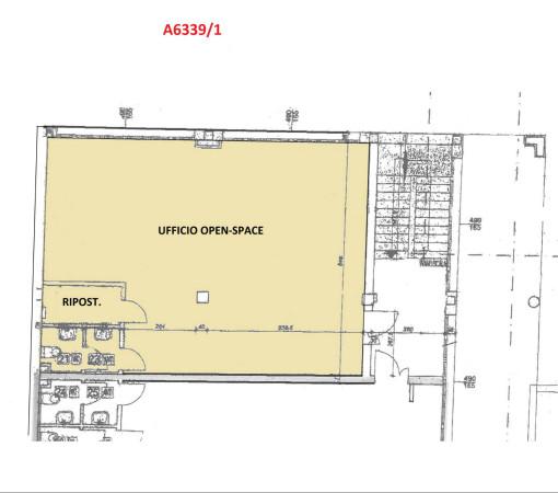 foto Planimetria Ufficio in Affitto a Bagnolo in Piano