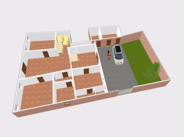 foto 3d piano terra Stabile / Palazzo in Vendita a Ferrara
